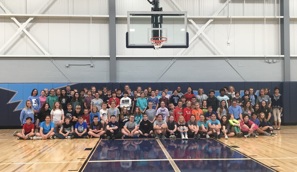 6th and 7th graders and Staff