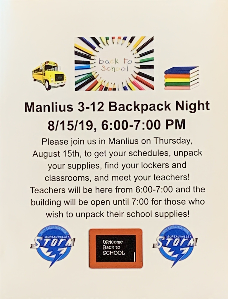 Backpack Night Info