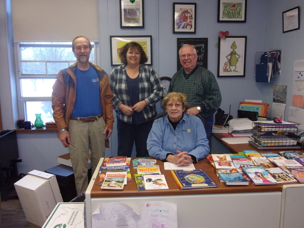 Walnut Rotary Members Distribute Birthday Books